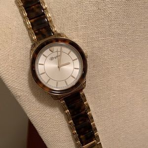 Brighton gold and tortoise shell watch